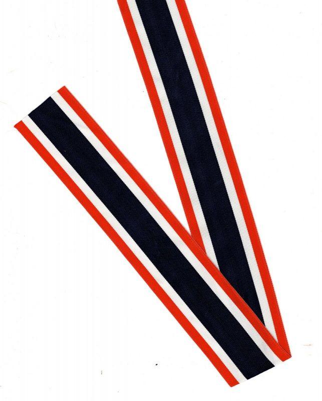 Ordensband Rot- Blau - Weiss  Streifen 1 m x 4 cm