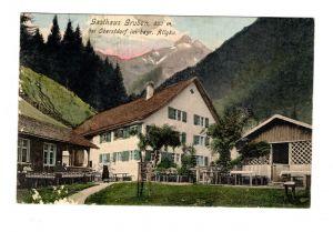 AK Schwaben Gasthaus Gruben bei Oberstdorf im bayrischen Allgäu 1908