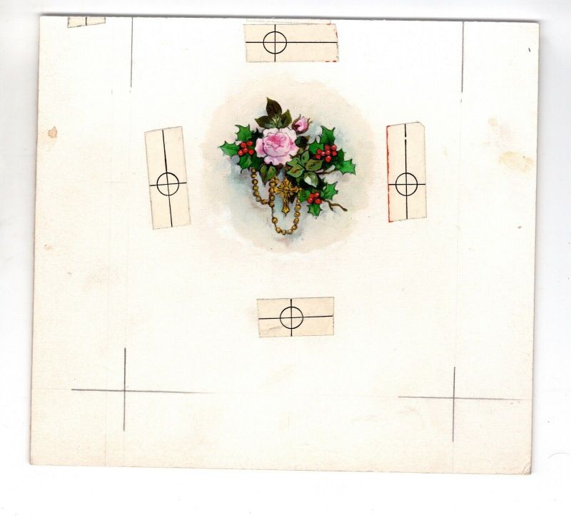 Goebel Aquarell Arbeitsmuster USA Rosenkranz Roses Weihnachten