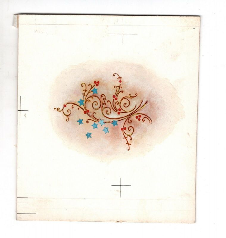 Goebel Aquarell Arbeitsmuster Janet Kennedy USA Blue Stars Weihnachten