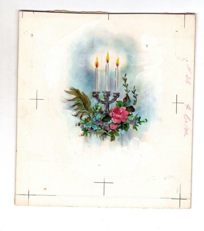 Goebel Aquarell Arbeitsmuster Janet Kennedy 1950 USA Candles Weihnachten