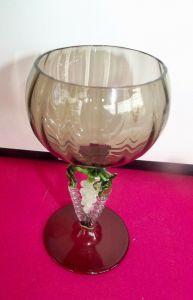 Antikes Weinglas Reben Trauben Stil Lauscha 1920