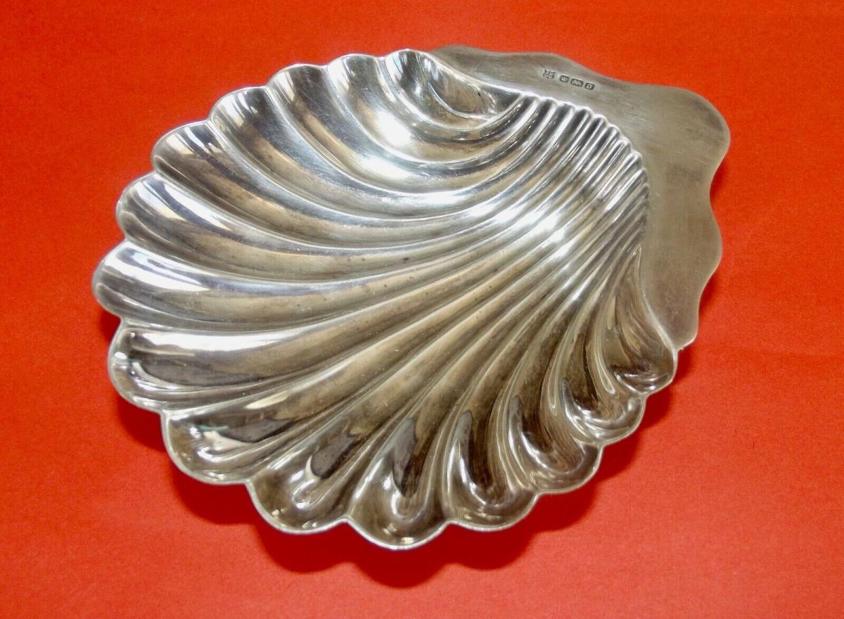 Silber Muschel Schale Punziert