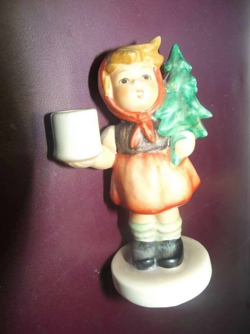 Goebel Hummel # 116 Kerzenhalter Mädchen mit Tannenbaum Weihnachten 1 Wahl