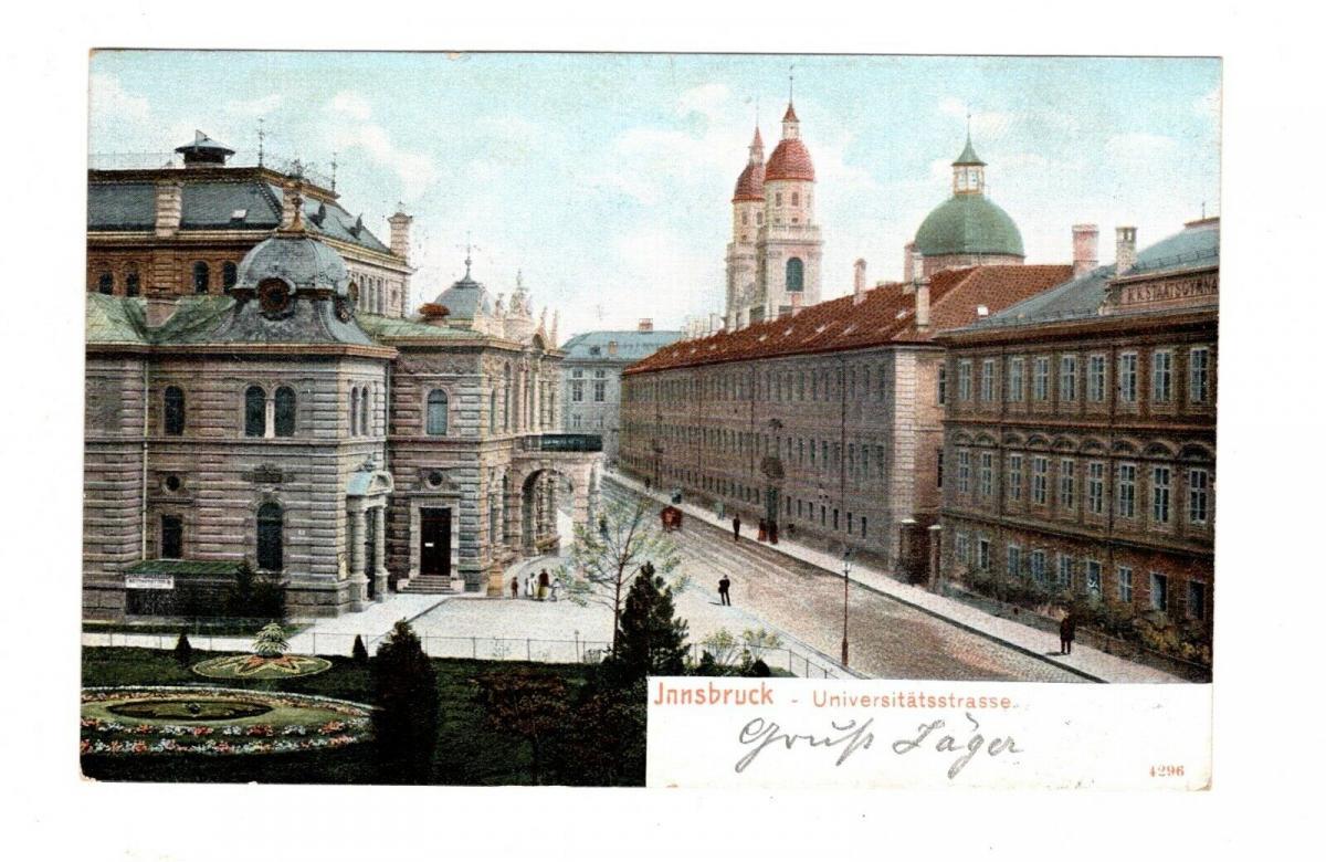 AK Österreich Innsbruck Universitätsstrasse 1900