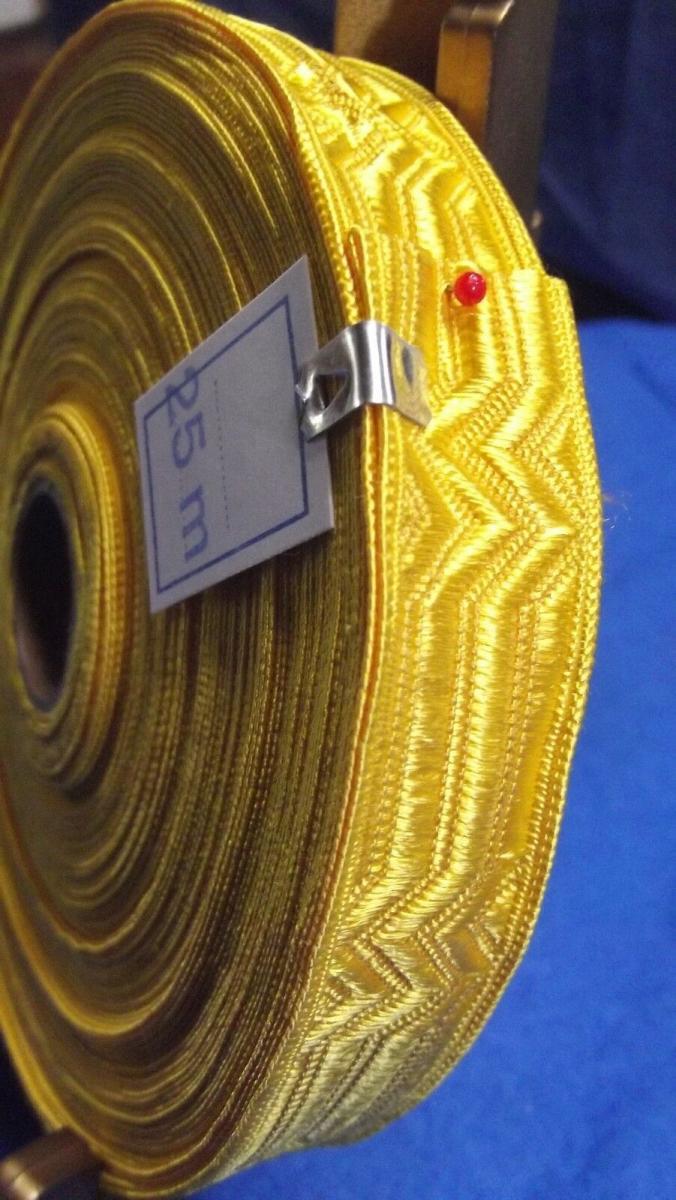 Borte Litze Tresse 25 Meter / Breite 21 mm für Theater Tracht Uniform Top