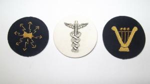Militär Uniform Ärmelabzeichen Patch Bouillon Stickerei Musik Bundeswehr