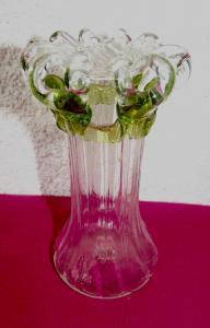 Jugendstil Wellen Vase Abrissglass
