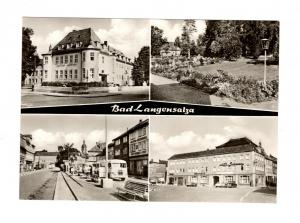 AK Thüringen Bad Langensalza - Hotel - Reifen Herrmann - Schwefelbad DDR Karte