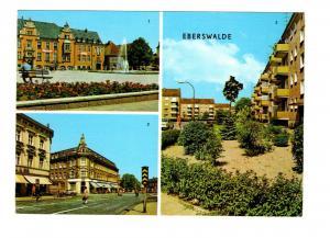AK Brandenburg Eberswalde Wilhelm Pieck Strasse - Wildpark Strasse DDR Karte