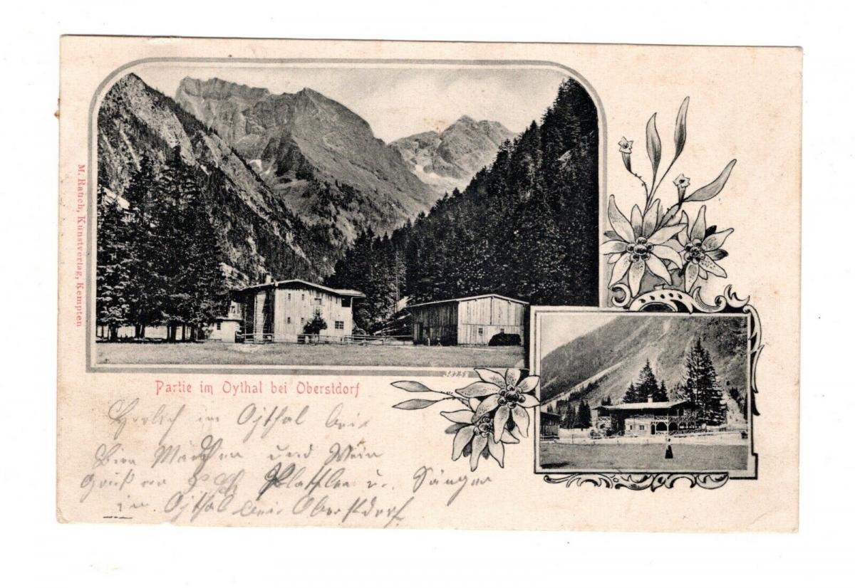 AK Schwaben Partie im Oythal bei Oberstdorf 1902 0