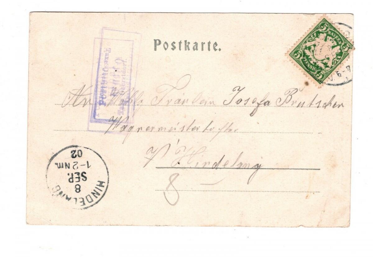 AK Schwaben Partie im Oythal bei Oberstdorf 1902 1
