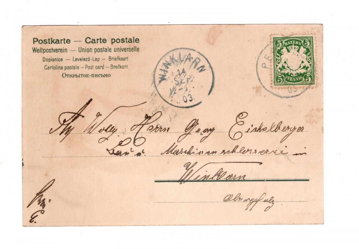 AK Gruss vom Oktoberfest München 1903 Lithographie Münchner Kindl 1