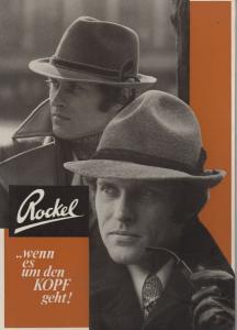Reklame Papp Aufsteller Vintage 60er Jahre Rockel Hüte Männer Hut Mode
