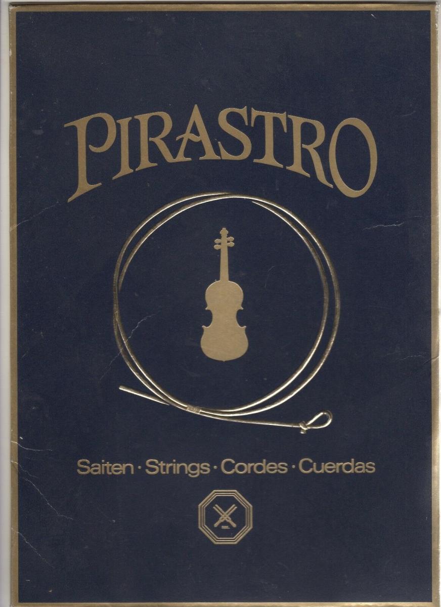 Alter Reklame Papp Aufsteller Pirastro Saiten Strings Cordes Cuerdas Geige 0