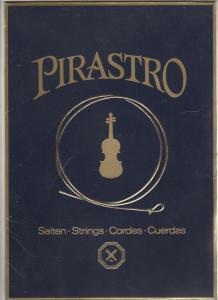 Alter Reklame Papp Aufsteller Pirastro Saiten Strings Cordes Cuerdas Geige