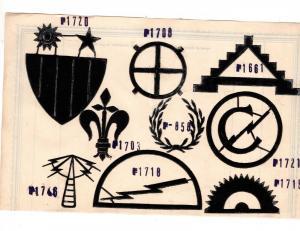 #3 Stickmuster Pappvolagen Muster WK2 Patch Aufnäher Militär