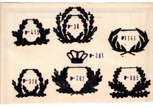 #2 Stickmuster Pappvolagen Muster WK2 Patch Aufnäher Militär