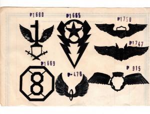 #1 Stickmuster Pappvolagen Muster WK2 Patch Aufnäher Militär