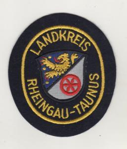 Behörden Uniform Aufnäher Patches Landkreis Rheingau-Taunus / Schwarz / Gelb