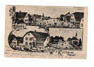 AK Frankreich Elsass Kunheim Département Haut-Rhin in der Region Grand Est