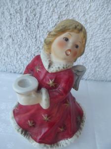 Goebel Figur als Engel Spieluhr Kerzenhalter