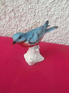 Goebel Bunte Vogelwelt Bluebird Blauer Vogel