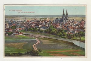 AK Oberpfalz Regensburg Lithographie Total von den Winzererhöhen 1909