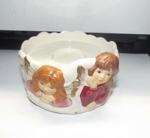 Goebel Weihnacht Teelicht Verträumt bei Kerzenschein Engel Teelicht Schale