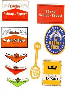 #4 Konvolut von Brauereien aus Deutschland Brauerei Etikett