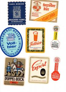 #3 Konvolut von Brauereien aus Deutschland Brauerei Etikett