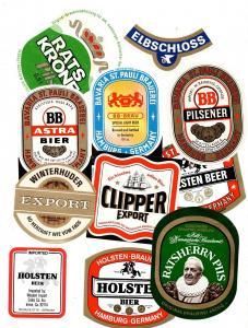 #1 Konvolut von Hamburger Brauereien Bieretiketten Hamburg Brauerei Etikett
