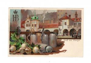 AK Oberbayern München Hofbräuhaus Lithographie 1905