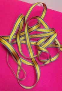 Miniaturband Ordensband Studentenband unbekannt 2 m x 10 mm