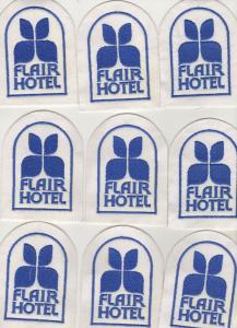 9 x Patch Aufnäher Flair Hotel Reise Andenken