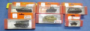 X- Lot von 6  Roco Minnitanks H0 Militär Modelle Panzer - Halbkette in OVP
