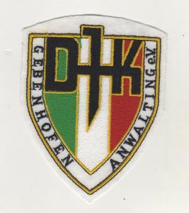 Sport Aufnäher Patches DJK Gebenhofen-Anwalting Fussball Verein