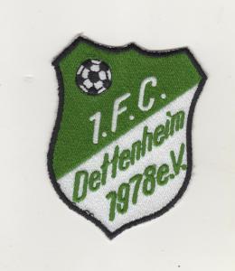 Stoff Aufnäher Patches 1 FC Dettenheim bei Weißenburg Fussball Verein