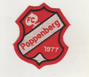 Stoff Aufnäher Patches FC Poppenberg 1977 Fussball Verein
