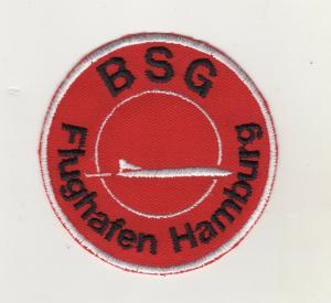 Aufnäher Patches Betriebssportgemeinschaft Sport BSG Flughafen Hamburg