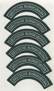6 x Uniform Behörden Stoff Aufnäher Patch Deutsche Bundesbank
