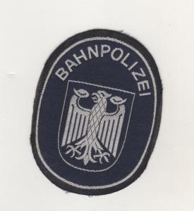 Uniform Patches Polizei Aufnäher Bahnpolizei