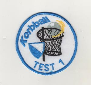Aufnäher Patches Sport Korbball Test 1