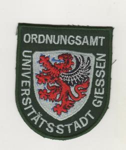 Behörden Uniform Aufnäher Patches Universitätsstadt Giessen Ordnungsamt