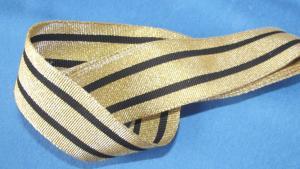 Litze Tresse für Uniform Breite 43 mm / 2,5 Meter  Gold-Schwarz
