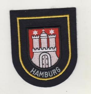 Uniform Aufnäher Patches Ärmelabzeichen Hamburg - Rand Weiss