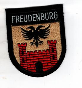 Rheinland-Pfalz Patch Aufnäher Freudenburg Wappen Landkreis Trier-Saarburg