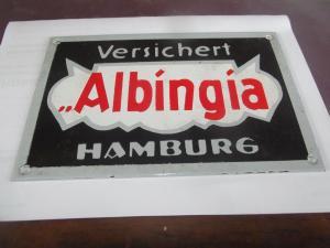 Versichert Albingia Versicherung Hamburg Email Emailleschild