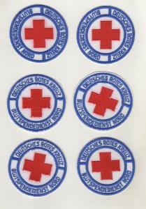 Aufnäher Patch 6 x Deutsches Rotes Kreuz Blutspendedienst Nord