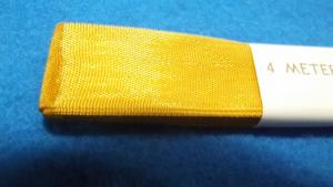Antike Bordüre Borte Tresse Litze Goldgelb 4 Meter x 20 mm Trachten Kostüme
